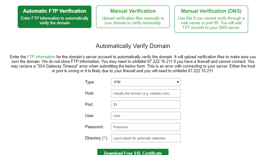 ssl for free 2