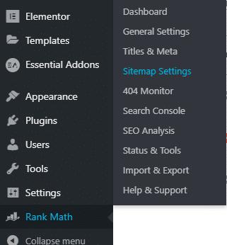 Rankmath Sitemap
